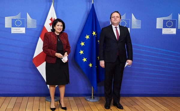 Georgian President meets EU Commissioner for Neighborhood and Enlargement