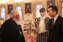 Georgian Patriarch hosted Bidzina Ivanishvili