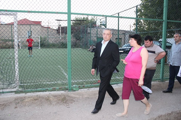 Gia Volski meets with population in frames of pre elections campaign