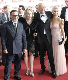Hollywood stars Andy Garcia and Sharon Stone attended the premiere of a film about the Georgia-Russia war - The Five Days of August