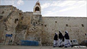 Bethlehm Christmas: Christians celebrate Midnight Mass