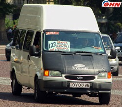 At  Rose square minibus drivers protest action was held