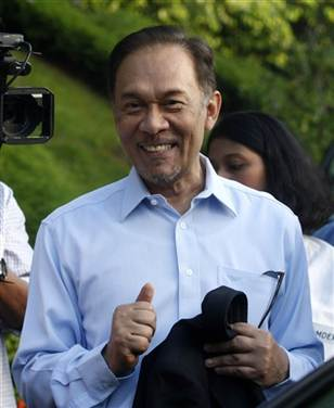 Malaysian court finds opposition leader Anwar not guilty of sodomy