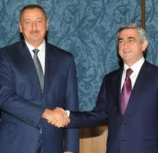 Azeri, Armenia and Russian Presidents' official part of meeting accomplished.