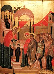 Today the Orthodox Church celebrates Virgin Mary's entering into Temple