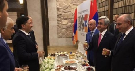 De facto Abkhazian government attends Independence Day of Nagorno Karabakh