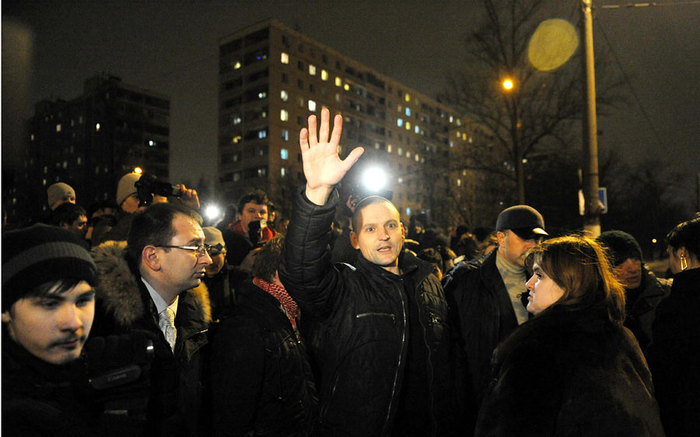 Sergei Udaltsov released after month in jail