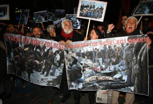 Kurds protest over deadly Turkey air raid