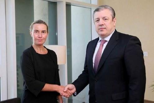 Giorgi Kvirikashvili met  with Federika Mogerini