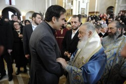 President congratulated Georgian Patriarch with 34-years of enthronization