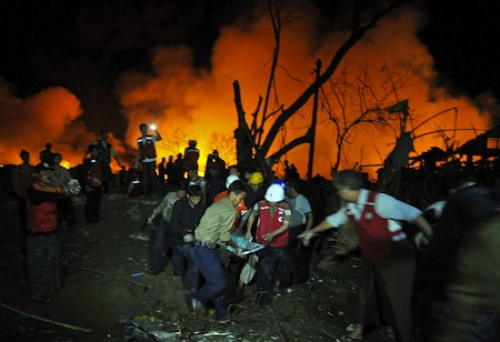 Explosion in Myanmar